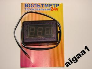 Фото Цифровые и измерительные приборы, устройства, Вольтметры Вольтметр 24V