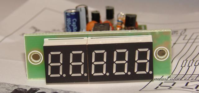 Цифровая шкала - частотомер с пятиразрядным 0,36« светодиодным индикатором