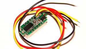 Фото Цифровые и измерительные приборы, устройства, Вольтметры Вольтметр с переменной точкой ( синий )