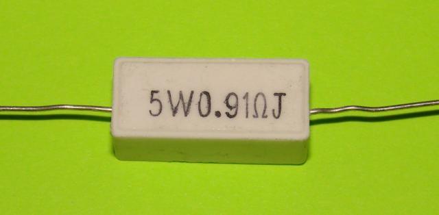 Резистор керамический 5 W 0,91 R