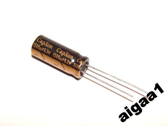 Конденсатор электролитический компьютерный 6,3 V 1500 mkF