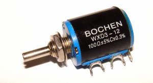 Фото Резисторы, Многооборотные Резистор многооборотный BOCHEN 100 Ом