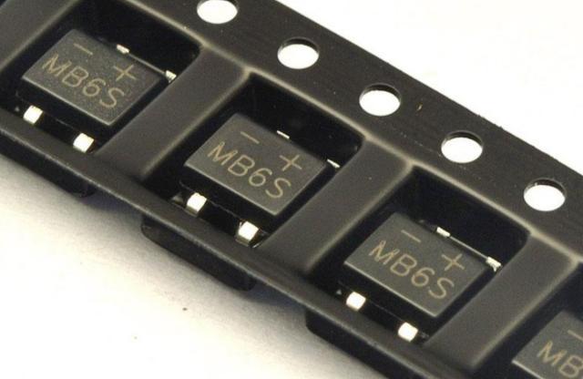 Диодный мост MB6S 0.5A 600В SMD