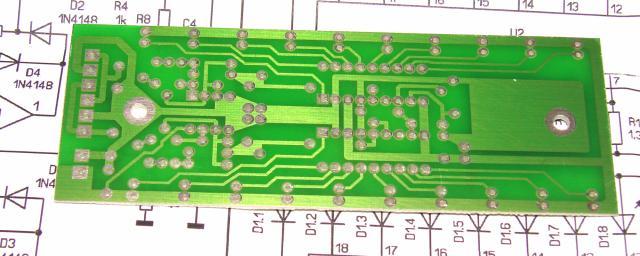 Плата Светодиодный двухканальный индикатор уровня сигнала 2х10 светодиода на микросхемах LM3914, LM3915