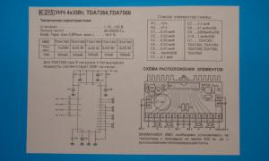 Фото Мастер КИТ. Радиолюбительские модули, Печатные платы модулей Плата УНЧ 4х35Вт , TDA7384 , TDA7560