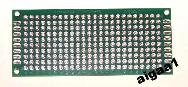 Плата макетная двухсторонняя 70 х 30 мм.