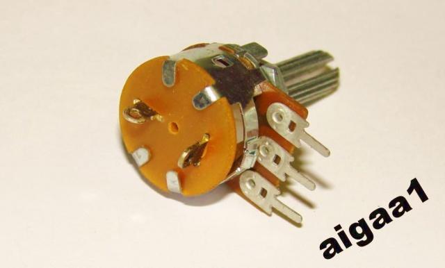 Резистор переменный В10 кОм с выключателем моно