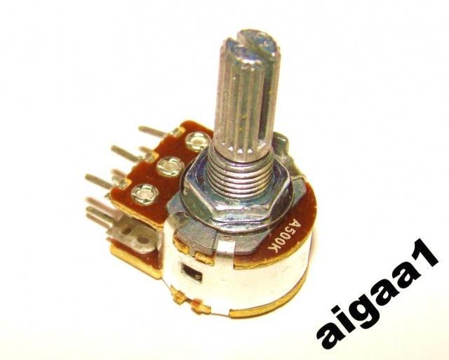 Резистор переменный А 500 кОм логарифмический стерео