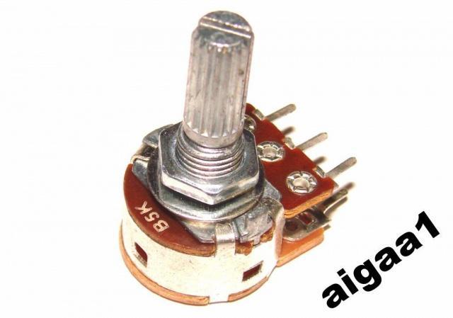 Резистор переменный В 5 кОм линейный с выключателем