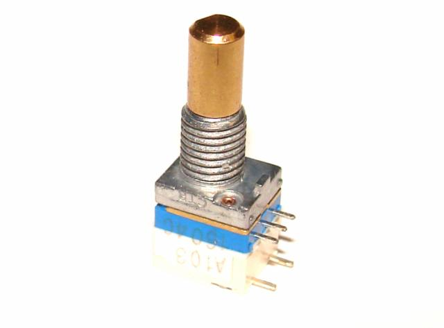 Резистор переменный В 10 кОм линейный с выключателем для радиостанций