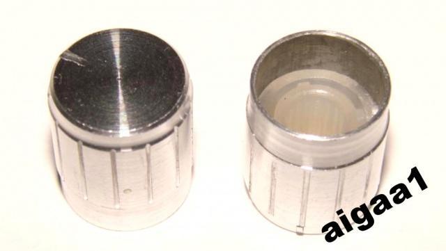 Ручка потенциометра алюминий 17 х 17 мм.