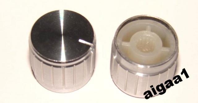Ручка потенциометра алюминий 19 х 17 мм.