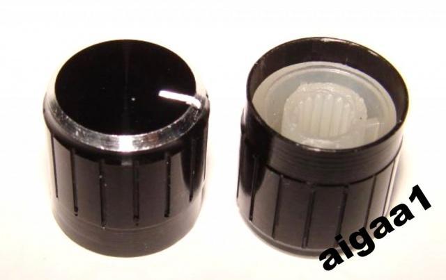 Ручка потенциометра алюминий 15 х 17 мм.