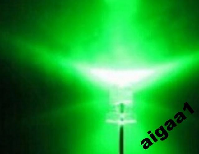 Светодиод ультраяркий зеленый 3 мм.