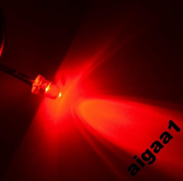 Светодиод ультраяркий красный 3 мм.