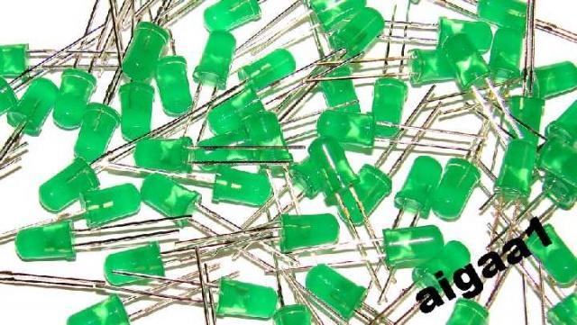 Светодиод 5 мм. зеленый