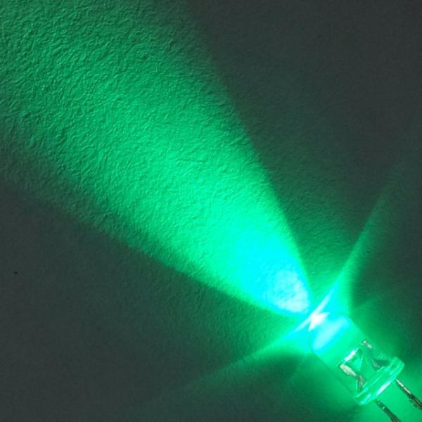 Светодиод 5 мм. зелёный