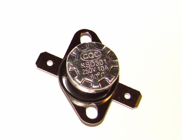 Термостат биметалический 10А 250VAC 80 градусов