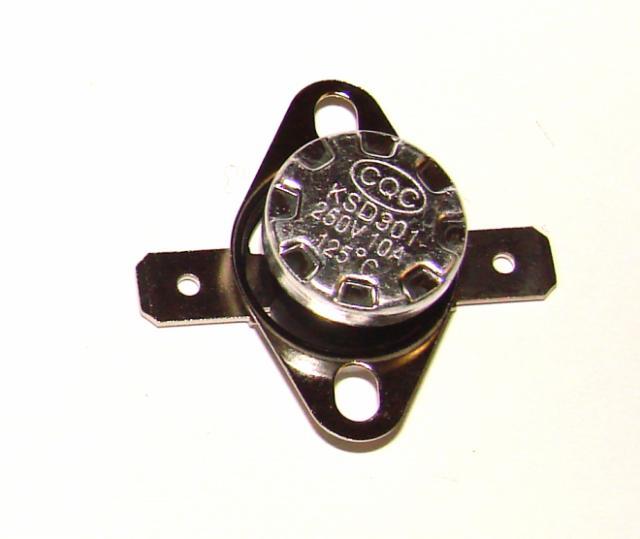 Термостат биметалический 10А 250VAC 125 градусов