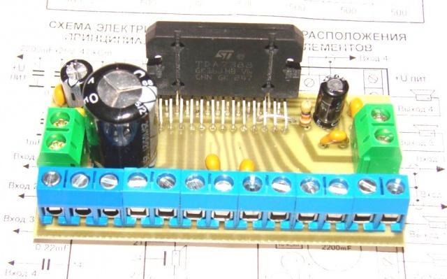 УНЧ 4х40 Вт на TDA7388