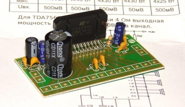 Усилитель УНЧ 4 х 45 Вт на TDA7386