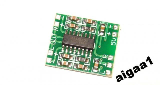 Стерео аудио усилитель 2х3W PAM8403