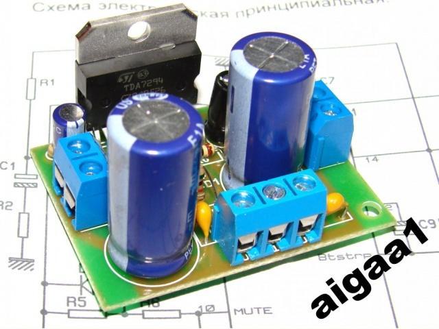 УНЧ 100 Вт TDA7294 ( оригинал STM )
