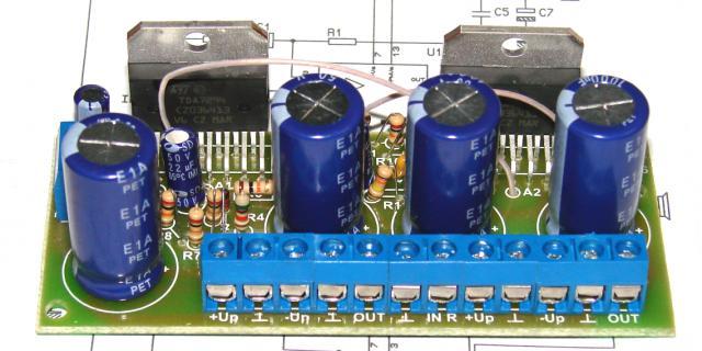 Стерео УНЧ 2 х 100 Вт ( или мост 170 Вт ) на TDA7294