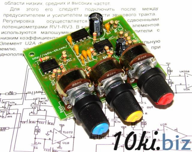 Стерео темброблок TL072 трёхполосный Устройства обработки звукового сигнала на Электронном рынке Украины