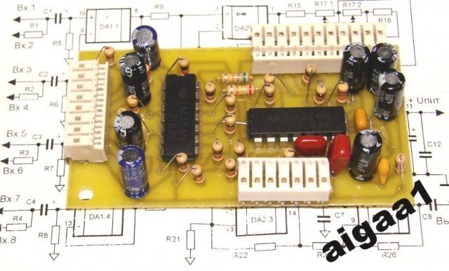 Фильтр для сабвуфера с регулировками на LM 324, активный