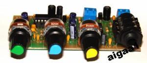 Фото Мастер КИТ. Радиолюбительские модули, Устройства обработки звукового сигнала Микрофонный усилитель с эхо и реверберацией на PT2399