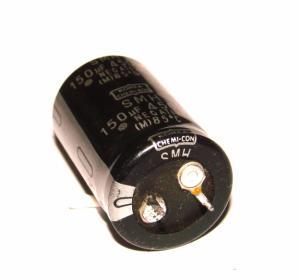 Фото Конденсаторы, Электролитические б/у фирменные Конденсатор CHEMI-CON 150 мкФ х 450В
