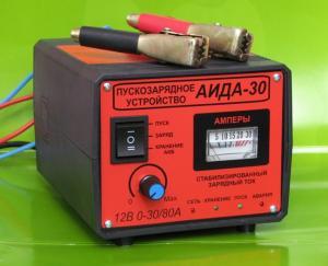 Фото  Аида 30: пуско-зарядное устройство для авто аккумуляторов 6-500 Ач