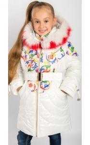 Фото Верхняя одежда (зима) 00/232 Пальто (зима) Василиса д/дев(белый)