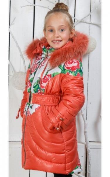 00/201 Пальто (зима) Василиса д/дев(коралл)