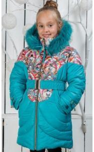 Фото Верхняя одежда (зима) 00/211 Пальто (зима) Василиса д/дев(бирюза)