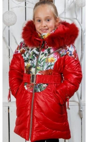 00/221 Пальто (зима) Василиса д/дев(красный)