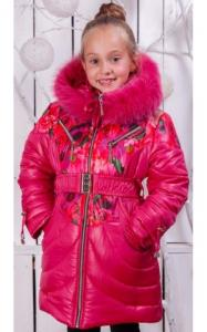 Фото Верхняя одежда (зима) 00/241 Пальто (зима) Василиса д/дев(малина)