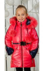 Фото Верхняя одежда (зима) 0027/2 Зимнее пальто Барбара д/дев(коралл)