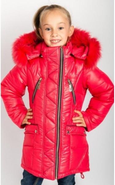 0034 Пальто (зима) Ангелина д/дев (коралл)