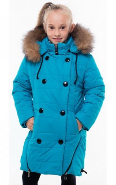 0196 Пальто(зима) ХИЛЛАРИ(зеленый)