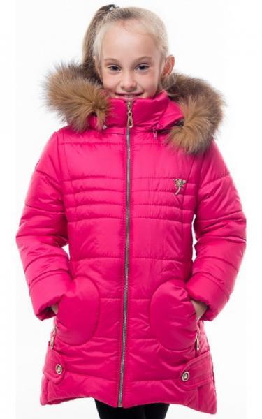 0184 Пальто(зима) ГОРОД д/дев (малина)