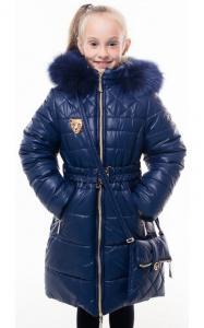 Фото Верхняя одежда (зима) 0210 Пальто(зима) ШЕЛЛИ с сумочкой (синий)