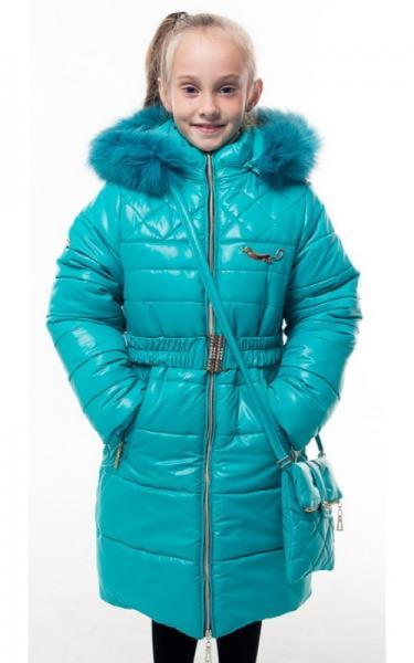 0209 Пальто(зима) ШЕЛЛИ(бирюза)