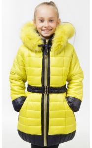 Фото Верхняя одежда (зима) 0502 Куртка (зима) МАГДА д/дев (желтый+синий)