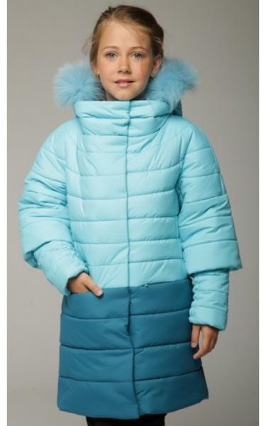 0523 Пальто зимнее КАТЯ (бирюза)