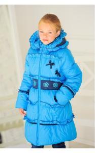 Фото Верхняя одежда (зима) 0531 Пальто зимнее КРИСТИНА (голубой)