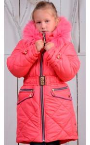 Фото Верхняя одежда (зима) 0836 Зимнее пальто ТАНЯ (коралл)