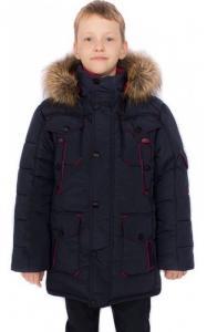 Фото Верхняя одежда (зима) 0758 Парка зимняя Корней д/мальч. (т.синий)