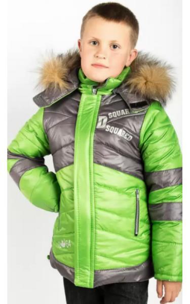 10423 Куртка зимняя д/мальч АРТУР (салат)